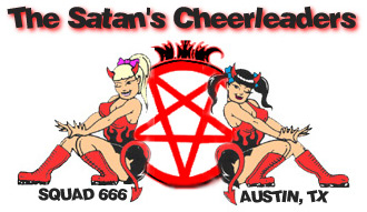 Satans' cheerleaders banner